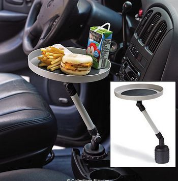 swivelcartray Swivel Car Tray   Keeps your food in reach