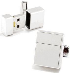 usbdrivecufflinks small USB Flash Drive Cufflinks   fashionable tech at your fingertips