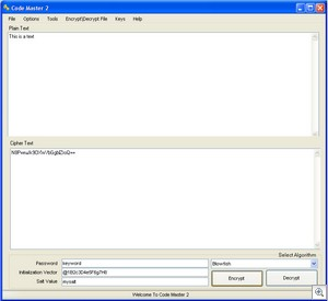 codemaster2 thumb Code Master 2   freeware lets you quickly and securely encrypt text before you email