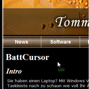 battcursor BattCursor   freeware puts your battery state where you can see it