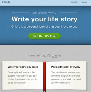 ohlife small OhLife   brilliant email based free daily journal service