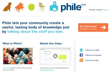 phile small Phile   cool new way for groups to chat about stuff they love