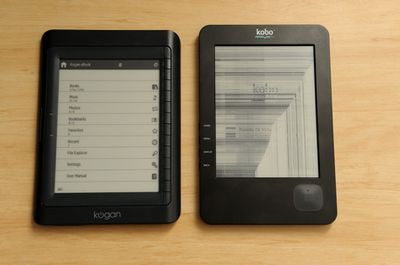 koganvskobo small1 Kogan 6 eBook Reader   Hands on review