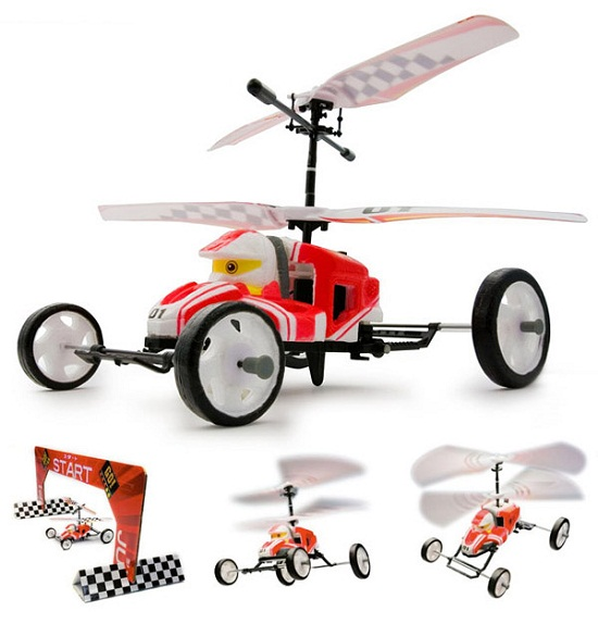 R/C Jumping Kart drives and flies