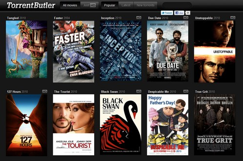 torrentbutler small Torrent Butler   cool movie finder serves up torrents with style