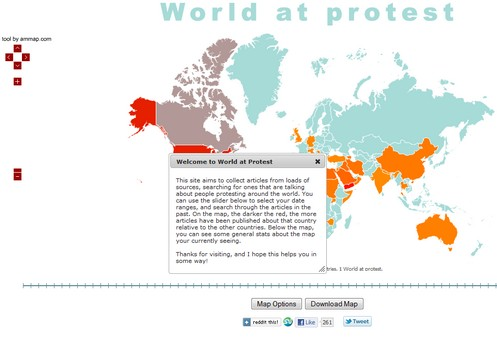 worldatprotest small World at Protest   map tracks people protests