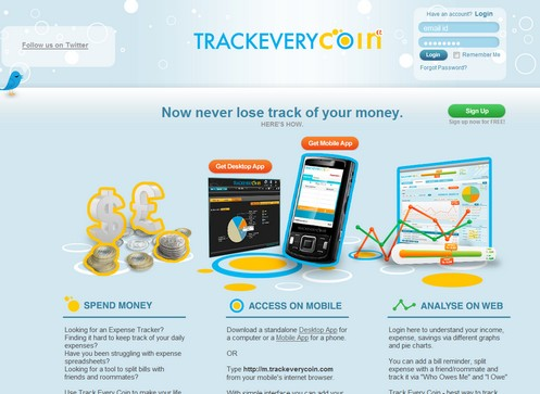 trackeverycoin small Trackeverycoin   free hybrid mobile and web expense monitor