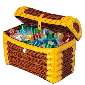 inflatable chest1 Inflatable Treasure Chest Cooler