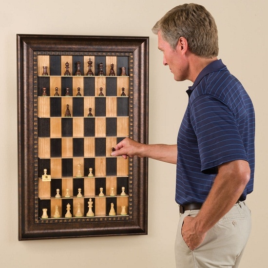 Vertical Chess Set turns your board into a playable decoration