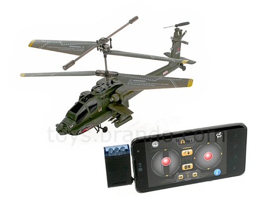 TRCPH005300 01 L AH 64A Apache Helicopter is controlled by your iOS or Android phone