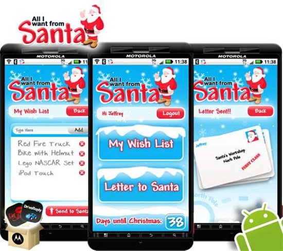 Text All I Want From Santa app upgrades the traditional letter to Santa