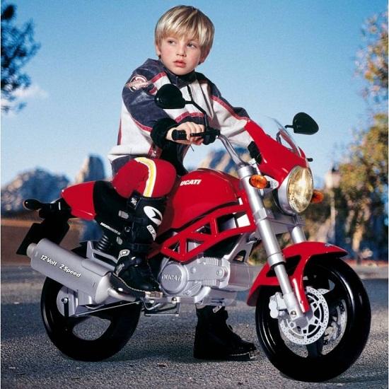 peg perego ducati monster 12v kids electric motorbike 1321377422 Get your kids an electric Ducati motorcycle
