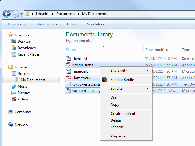 screenshot lrg explorer Send to Kindle lets you transfer any document to your Kindle [Daily Freeware]