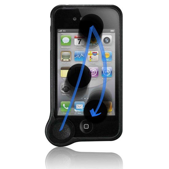 WipeCoin iPhone 4 Clean Case Black Web What if your case could clean your phones screen?