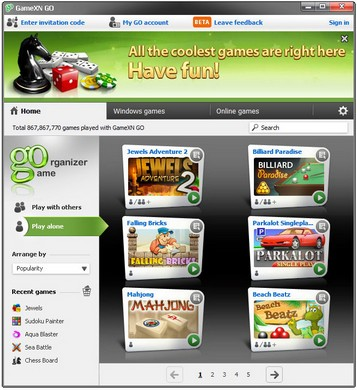 gamexn small2 GameXN lets you play free games solo or with others using your browser, phone or Skype