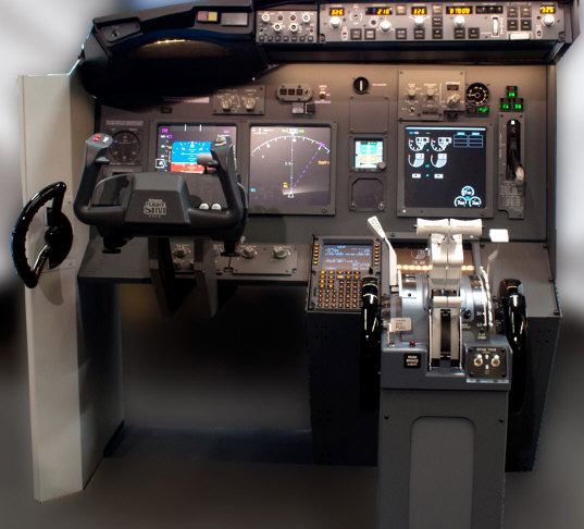 jetmax737 JetMax 737 Flight Sim Kit turns your garage into a Boeing 737 cockpit