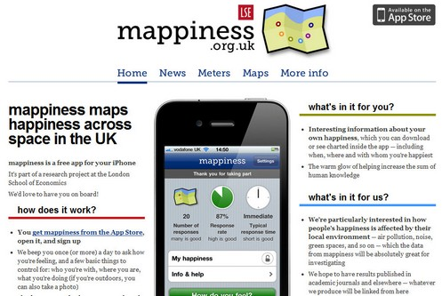 mappiness small Mappiness tracks our happiness via a smartphone