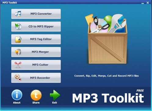 mp3toolkit small Awesome MP3 Toolkit is a must have audio editing utility [Freeware]