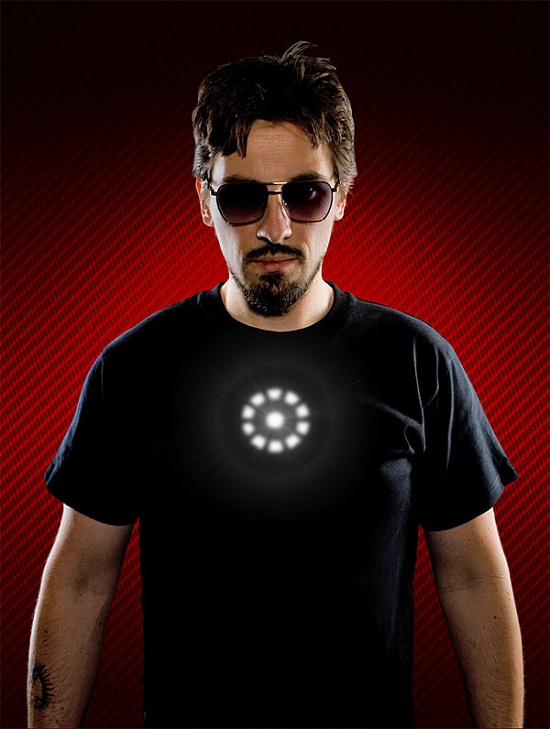 Light Up LED Iron Man Shirt won't give you super human abilities, but will make you awesome