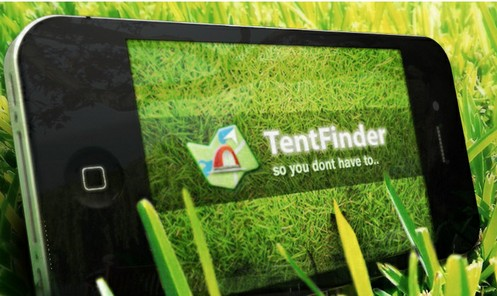 tentfinderapp small TentFinder makes sure youll always find your bed, even at the busiest summer festivals