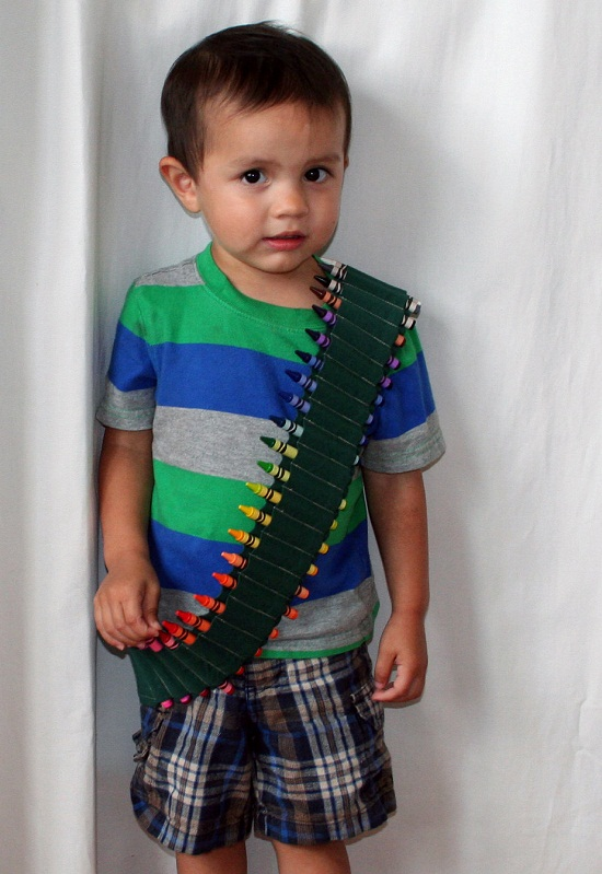 Crayon Ammo Belt Crayon Bandolier makes sure kids are always prepared...for creativity!
