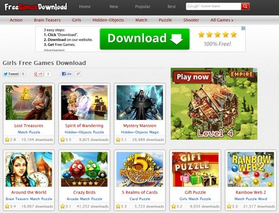 freegamesdownload2 Free Games Download offers thousands of free games for download [Freeware]