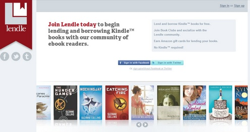 lendle Lendle is a cool Kindle e book lending community and library