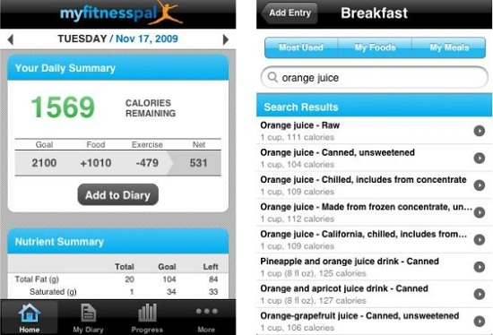 MyFitnessPal Myfitnesspal helps your keep your weight in check