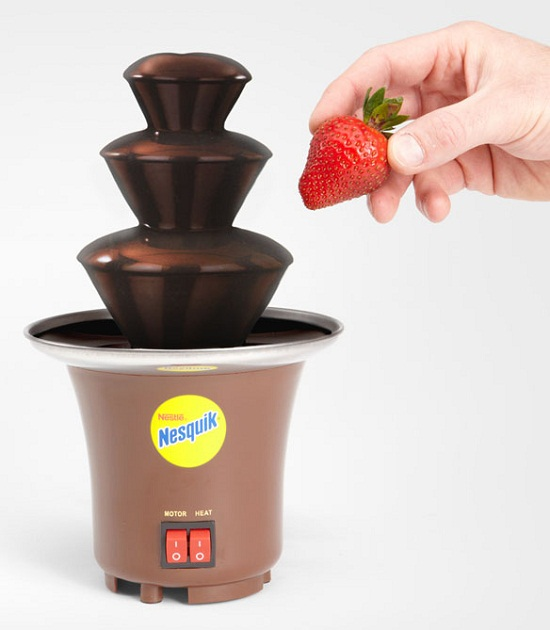 Nesquik Chocolate Fountain is the closest youll get to Wonkas chocolate river