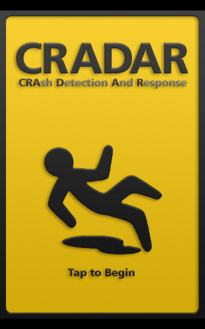 cradar 1 CRADAR monitors your phone and automatically alerts an emergency contact if you suffer an accident [Freeware]