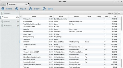podtrans2 small Podtrans   banish iTunes and manage your music the easy way [Freeware]