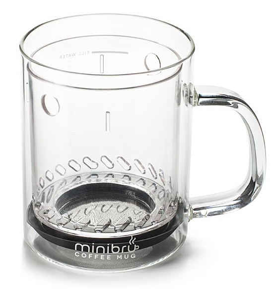 eef2 minibru minibru Coffee Mug makes a single cup of french press coffee