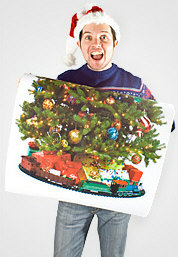 printedxmastreeposter2 The Printed Christmas Tree Poster guarantees youll have the worst Christmas ever