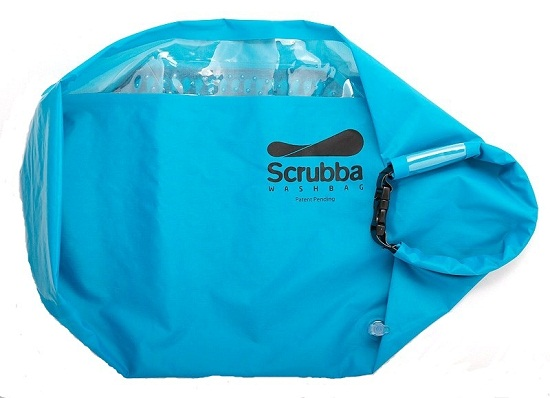 Scrubba01 Scrubba Wash Bag is a washing machine that will fit in your suitcase