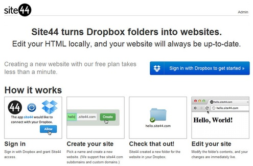 site44 Site44 turns Dropbox folders into websites