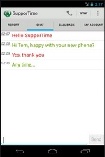 supportime3 Supportime puts a live technical support person in your Android phone [Freeware]