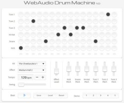 Web Audio Drum Machine – cool free online beat maker