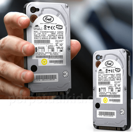 harddriveiphonecover Hard Drive iPhone Cover   let your inner geek spring free