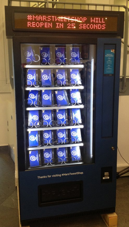 marstweetshop Mars Tweet Shop   student vending machines dispense treats for tweets