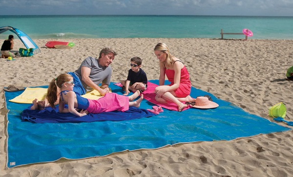 Four Person Beach Mat Four Person Beach Mat is a sand free zone for fun