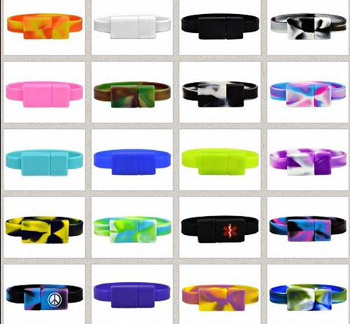 OhHand Styles OnHand 8GB USB Flashdrive Wristband   Memory you can wear