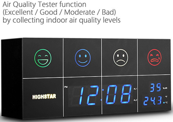 airtesterqualityclock Highstar Air Quality Tester Clock   air no good? Stay in bed