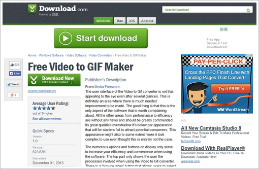 downloadcomfreeware Free Video To GIF Converter   great little free utility...with a caution about freeware in general [Freeware]