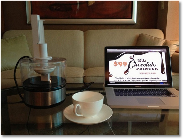 chocabyte ChocaByte   the worlds first affordable 3D chocolate printer
