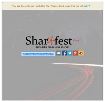 sharefest3 Sharefest   send and share any size file in an instant with your browser, no sign up