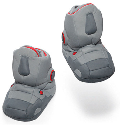 giantrobotslippers Giant Robot Slippers With Sound   the most annoying slippers in the world