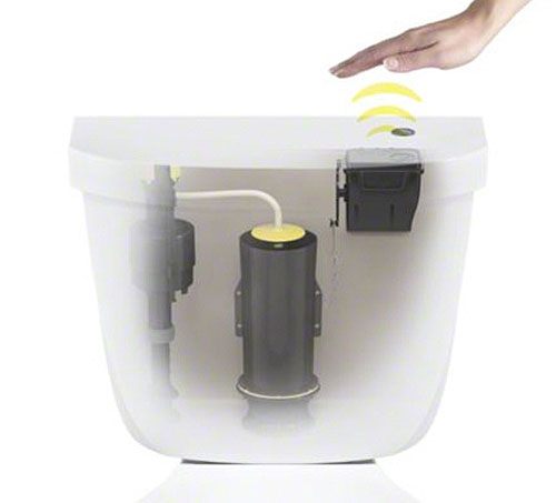 kohlertouchlesstoiletkit Kohler Touchless Toilet Kit   convert your toilet to hygenic wireless magic in just 20 minutes