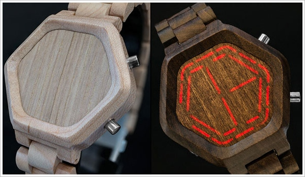nightvisionwoodwatch Kisai Night Vision Wood LED Watch   now you see it, now you dont