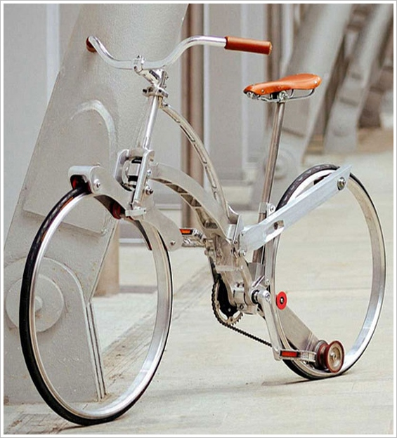 sadabike 1 Sada Bike   hubless, elegant and folds to the size of an umbrella
