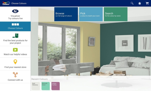 Delux App Dulux Visualizer   cool app lets you view your room in any color instantly, interior design just got real [Freeware]